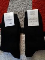 Új, 43-44-es, címkés, fekete nyári zokni