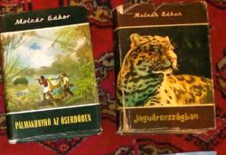 7 db Molnár Gábor vadász és útleírás könyv