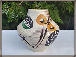 Modern Scheurich kézműves kerámia váza