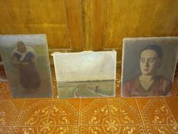 3db régi festmény  NINCS MINIMÁLÁR