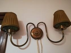 Réz fali kétágú lámpa