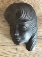 Art Deco fali kerámia női portré