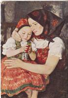 Képeslap / Glatz Oszkár festménye /