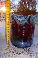 Antik üveg váza  -szép kézműves darab