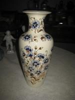 Zsolnay  kézzel festett   váza    búzavirág  decorral  közel 30 cm