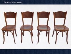 Four fabulous chairs - Debrecen thonet