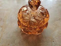 Lazac színű hibátlan üveg cukortartó