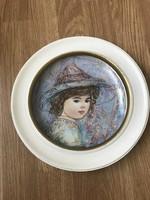 Álomszép EDNA HIBEL kézzel festett limitált porcelán