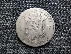 Belgium II. Lipót .835 ezüst 1 Frank francia szöveg 1866 (id23285)