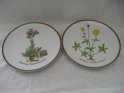 2 db Rosenthal Botanica botanika sorozat 5. és 7. fali tányér egyben