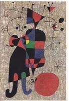 Képeslap / Joan Miró festménye /