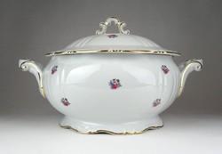 1F047 Régi hibátlan Zsolnay porcelán levesestál