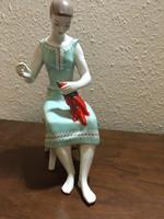 Hollóházi paprika fűző nő