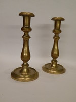 Pair of solid copper candlesticks