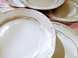 Zsolnay arany tollazott süteményes tányérok 6db