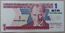 Törökország 1 lira 2005 UNC