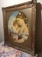 Anya gyermekével  festmény