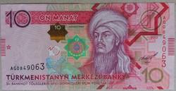 Türkmenisztán 10 Manat 2012 UNC