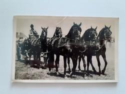 Régi lovas képeslap 1942 Debreceni ötösfogat fotó levelezőlap