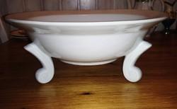 Hatalmas porcelán tál lábakkal