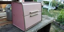 Vintage loft mid century design fèm kèt tálcás kenyeres doboz