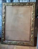 Különleges nagyméretű szecessziós blondel keret üveggel és hátlappal
