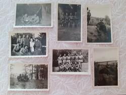 Régi katona fotó fénykép 7 db