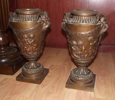19.századi barokk stílusú gyönyörű bronz váza