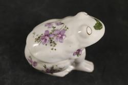 Antik porcelán ibolyás béka bonbonier 748