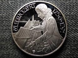 Ausztria W. A. Mozart Burgtheater .900 ezüst 100 Schilling 1991 PP díszdobozban (id48802)