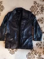Next férfi fekete bőrkabát M / L méretben eladó ! lemérve !