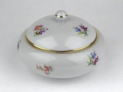 1F053 Régi nagyméretű Drasche porcelán bonbonier