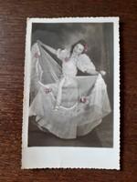 Régi női fotó 1947 vintage fénykép