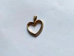 14 k-os  szívmedál