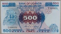 Uganda 500 Shillings UNC 1986