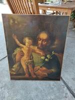 Szent József a gyermek Jézussal 18.sz.barokk festmény