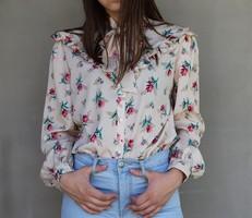 Vintage virágos blúz