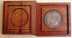 Bronz emlékérem 1993 Baja, átmérő 42,5 mm