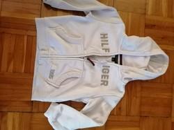 Tommy Hilfiger kisfiú kapucnis és cipzáros pulóver eladó, alkalmi áron !  3 - 6 éves korig
