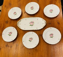 Herendi Porcelán 6 személyes süteményes készlet !