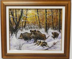 DABRONAKI KÁROLY Vaddisznók a téli erdőben 2018.  HETI akció3