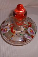 Antik parfümös zománcfestett illatszeres üveg  szép kézműves darab