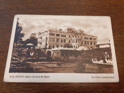 Régi képeslap Balatonfüred gyógyfürdő Erzsébet szanatórium levelezőlap