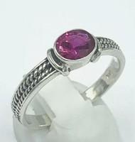 Rubin köves/ sterling ezüst gyűrű, 925  - új