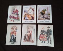 Néprajzi témájú képeslapok