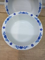 4db Alföldi porcelán kék magyaros kompótos