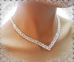 Esküvői, menyasszonyi nyaklánc, swarovszki kristály SL-ESW02-1