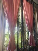 Romantikus babarózsaszín függöny pár
