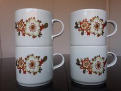 4 db Alföldi porcelán 'Icu' mintás bögre