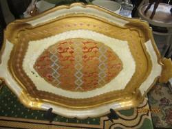 Régi Florentin festett tálca